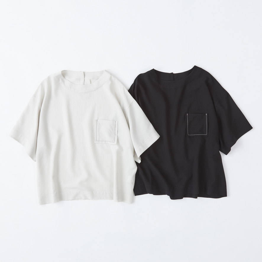 テンセルワイドポケットTシャツ-画像_01